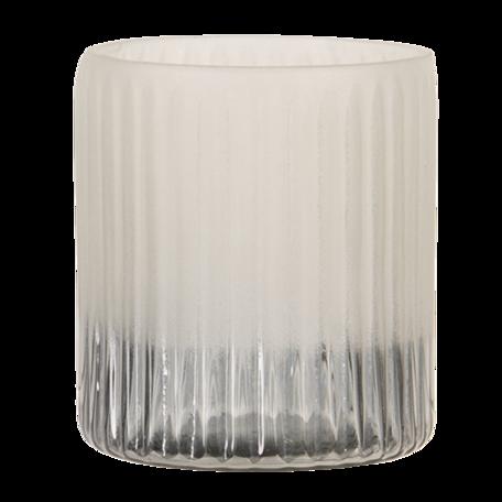Waxinelichthouder ø 8*8 cm Grijs | 6GL3174 | Clayre & Eef