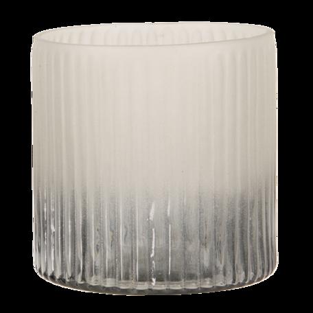 Waxinelichthouder ø 10*10 cm Grijs | 6GL3175 | Clayre & Eef
