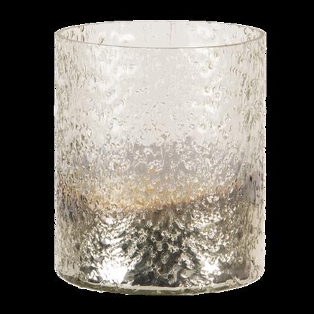 Waxinelichthouder ø 11*14 cm Zilverkleurig | 6GL3176 | Clayre & Eef