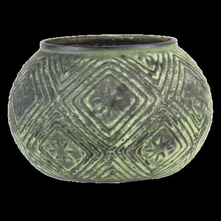 Waxinelichthouder ø 12*9 cm Groen   6GL3215   Clayre & Eef