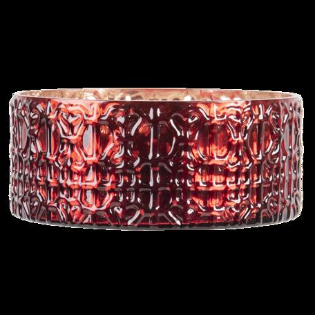 Waxinelichthouder ø 15*6 cm Rood | 6GL3219 | Clayre & Eef