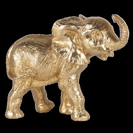 Decoratie olifant 13*7*12 cm Goudkleurig | 6PR3444 | Clayre & Eef