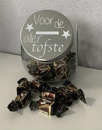 Snoeppot Voor de aller Tofste   Juf & Meester Kado
