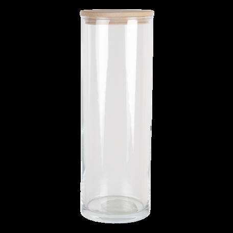 Voorraadpot met deksel ø 10*30 cm / 1885 ml Transparant | 6GL3428 | Clayre & Eef
