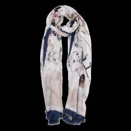 Sjaal 85*180 cm Blauw | JZSC0516BL | Clayre & Eef