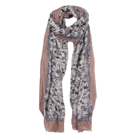 Sjaal 85*180 cm Roze | JZSC0517P | Clayre & Eef