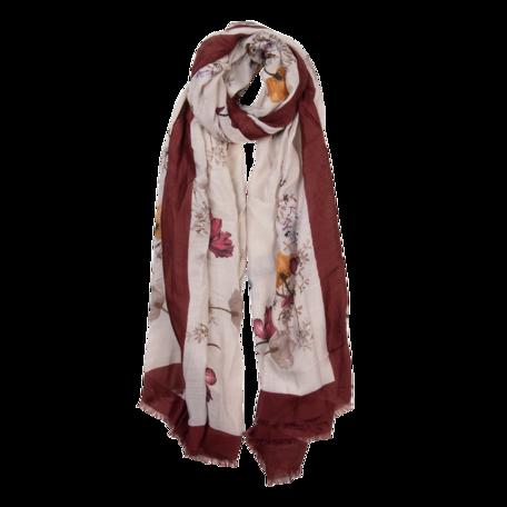Sjaal 85*180 cm Rood | JZSC0518R | Clayre & Eef