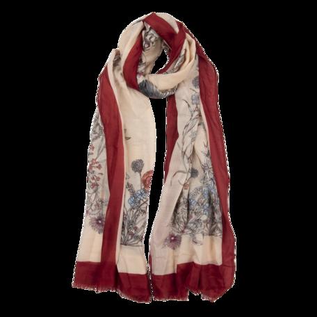 Sjaal 85*180 cm Rood | JZSC0519R | Clayre & Eef