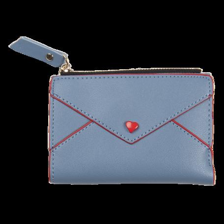 Portemonnee 12*9 cm Blauw | JZWA0117BL | Clayre & Eef