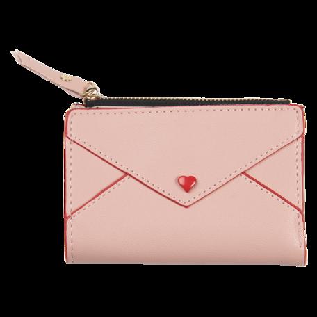 Portemonnee 12*9 cm Roze | JZWA0117P | Clayre & Eef