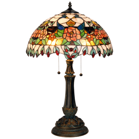 Tafellamp Tiffany ø 41*67 cm E27/max 2*60W Multi | 5LL-5530 | Clayre & Eef