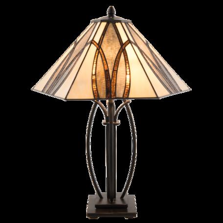 Tafellamp Tiffany 51*44*66 cm E27/max 2*60W Bruin | 5LL-5913 | Clayre & Eef
