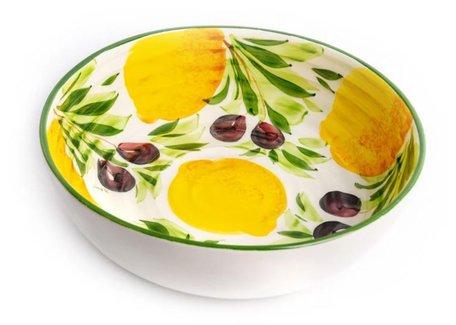Ronde schaal met citroenen en olijven groot Ø 28 cm | GR60 | Piccobella