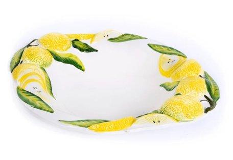 Grote schaal met citroenen ovaal 42 x 35 cm | FR502 | Piccobella