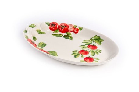 Schaal ovaal tomaat en mozzarella klein 32 x 21 cm | PO71 | Piccobella