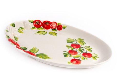 Schaal ovaal tomaat en mozzarella groot 41 x 27 cm | PO72 | Piccobella