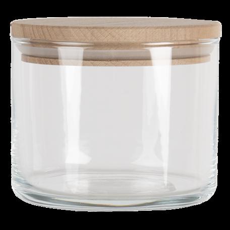 Voorraadpot met deksel ø 10*8 cm / 535 ml Transparant | 6GL3425 | Clayre & Eef