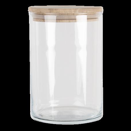 Voorraadpot met deksel ø 10*15 cm / 1050 ml Transparant | 6GL3426 | Clayre & Eef