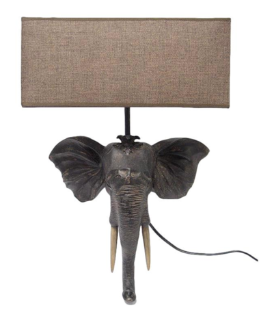 Wandlamp olifant 36 x 55 x 14 cm