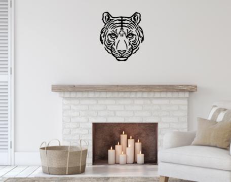 Muursticker tijger 65 x 58 cm   Rosami Decoratiestickers