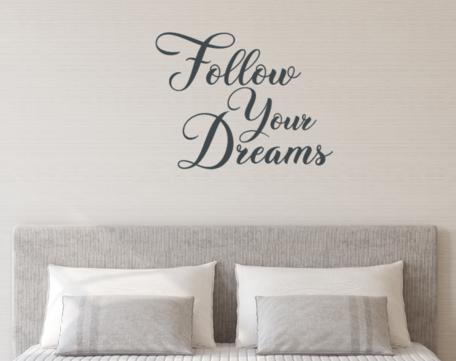 Muursticker Follow your dreams 75 x 58 cm   Rosami Decoratiestickers