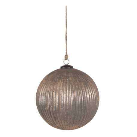 Kerstbal ø 25*25 cm Goudkleurig | 6GL3112 | Clayre & Eef
