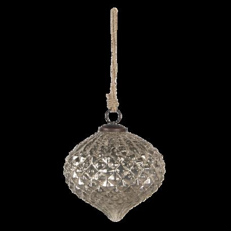 Kerstbal ø 15*15 cm Zilverkleurig | 6GL3148 | Clayre & Eef