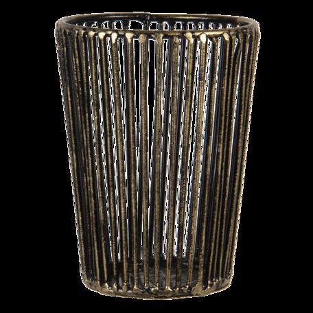 Waxinelichthouder ø 10*14 cm Koperkleurig   6Y4502   Clayre & Eef