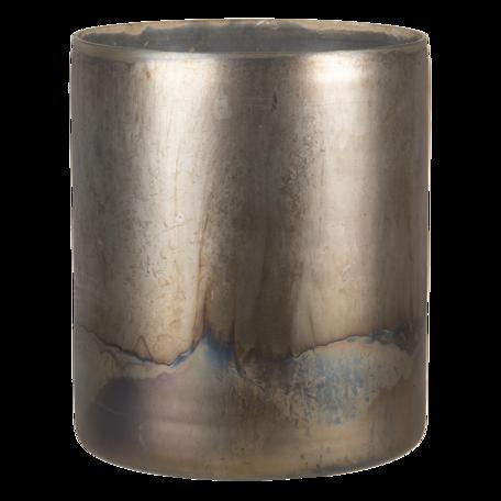 Waxinelichthouder ø 11*14 cm Goudkleurig   6GL3115   Clayre & Eef