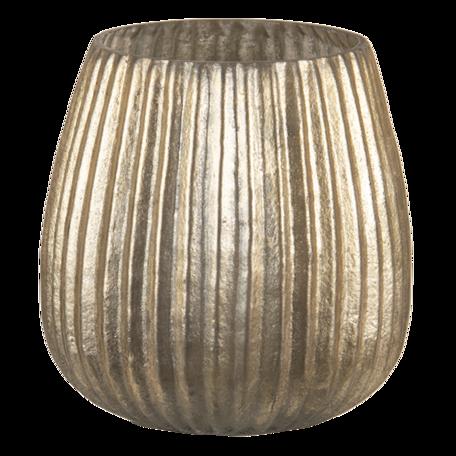Waxinelichthouder ø 10*10 cm Goudkleurig   6GL3140   Clayre & Eef