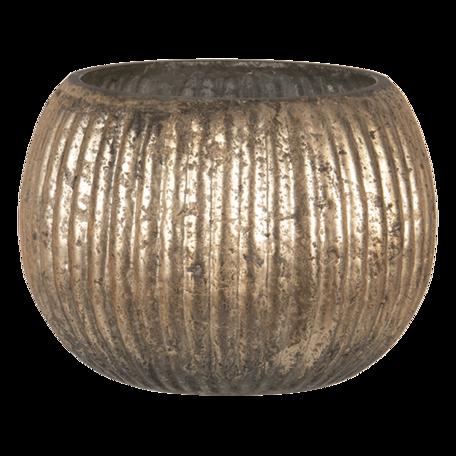 Waxinelichthouder ø 12*9 cm Goudkleurig   6GL3142   Clayre & Eef