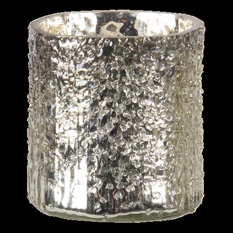 Waxinelichthouder ø 8*8 cm Goudkleurig   6GL3143   Clayre & Eef