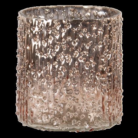 Waxinelichthouder ø 8*8 cm Goudkleurig   6GL3156   Clayre & Eef