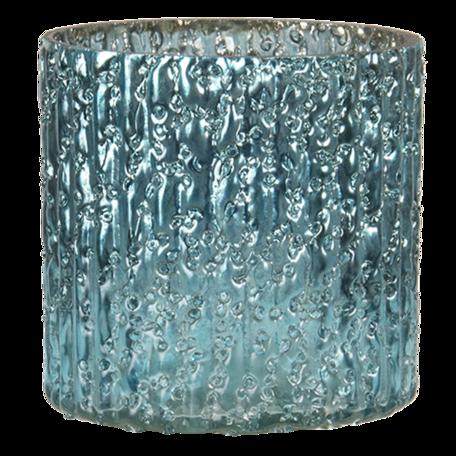 Waxinelichthouder ø 8*8 cm Blauw   6GL3158   Clayre & Eef
