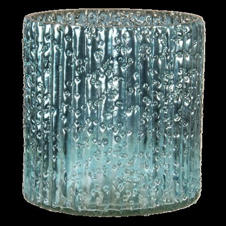Waxinelichthouder ø 10*12 cm Blauw   6GL3159   Clayre & Eef