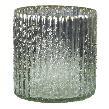 Waxinelichthouder ø 10*12 cm Bruin   6GL3164   Clayre & Eef