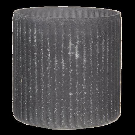 Waxinelichthouder ø 10*10 cm Grijs   6GL3168   Clayre & Eef