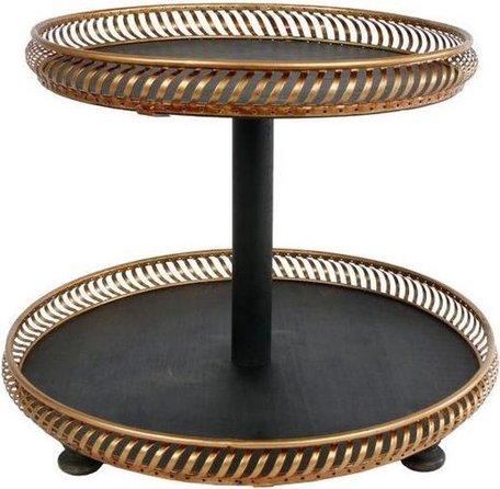Etagère Florian 36 x 28 cm staal goud/zwart | Gifts Amsterdam