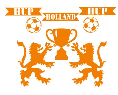 Voetbal EK WK (raam) sticker set herbruikbaar hup holland hup   Rosami Decoratiestickers