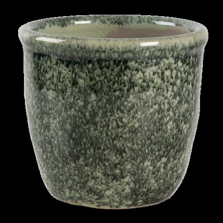 Bloempot ø 11*10 cm Groen | 6CE1259S | Clayre & Eef