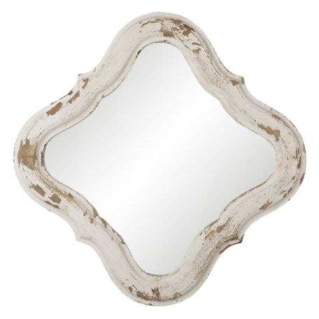 Spiegel 59*2*59 cm Wit   52S241   Clayre & Eef