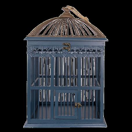 Vogelkooi 40*32*60 cm Zwart | 5H0492 | Clayre & Eef