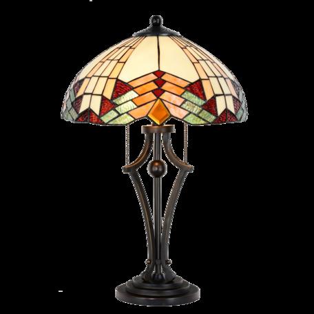 Tafellamp Tiffany ø 40*60 cm E27/max 2*60W Multi | 5LL-5961 | Clayre & Eef
