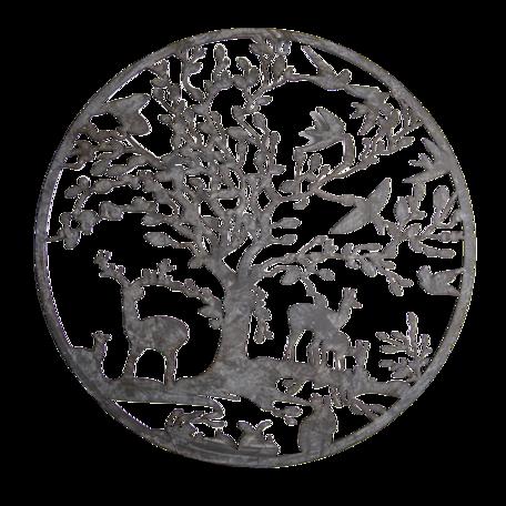 Wanddecoratie ø 60*2 cm Bruin | 5Y0868 | Clayre & Eef