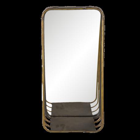 Spiegel 19*11*39 cm Koperkleurig   62S222   Clayre & Eef