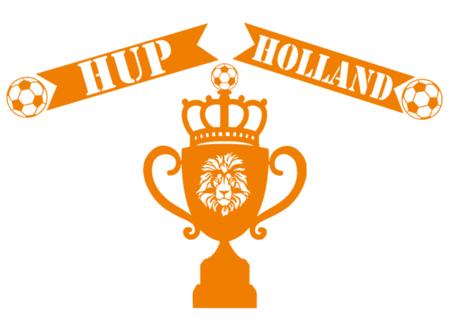 Voetbal EK WK (raam) sticker set herbruikbaar Beker leeuw hup holland   Rosami Decoratiestickers