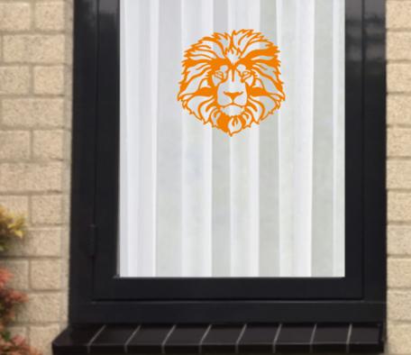 Voetbal EK WK (raam) sticker set herbruikbaar Leeuw van Oranje   Rosami Decoratiestickers