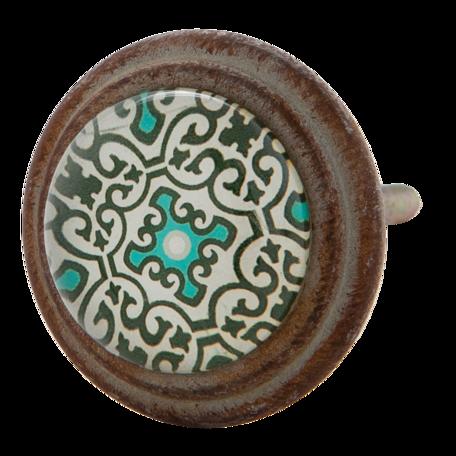 Deurknop ø 4*7 cm Bruin | 63295 | Clayre & Eef