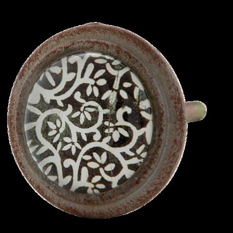 Deurknop ø 4*7 cm Bruin | 63296 | Clayre & Eef