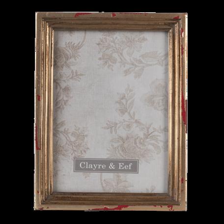 Fotolijst 15*3*20 cm / 13*18 cm Goudkleurig | 2F0825 | Clayre & Eef
